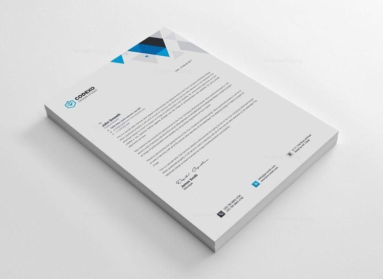 Paris Professional Corporate Letterhead Template - Graphic Templates