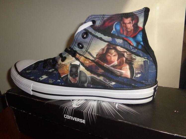 3a26b40390e9 Converse Trinity Superman Batman Wonder Woman DC Comics Sneakers SZ 10  Woman 12  Converse  Athletic