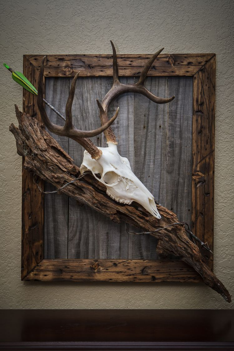 1000 Images About Deer Antler Wall Hanging Shelf On