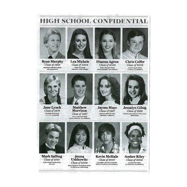 Glee Cast - When they really graduate!, found on polyvore.com