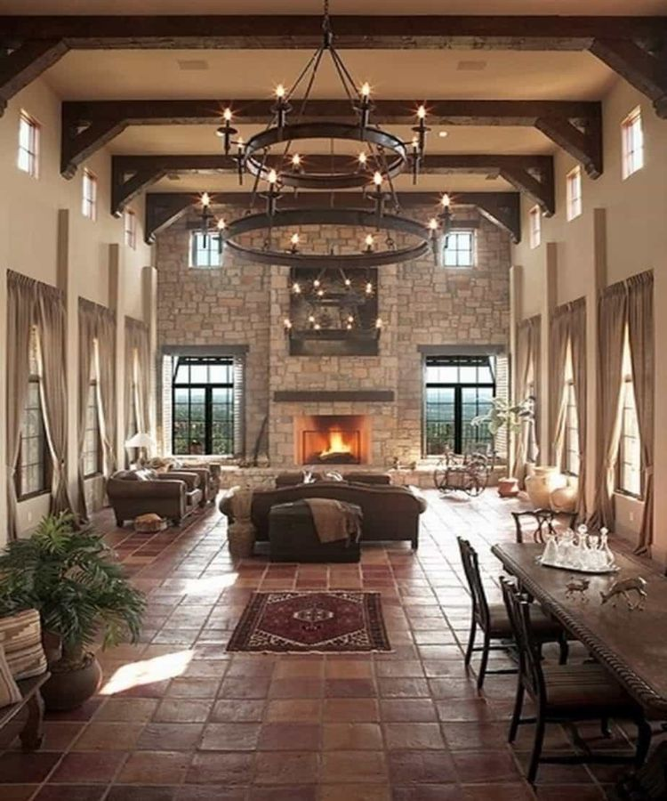 Majestic Tuscan Living Room : Gracious Tuscan Living Room