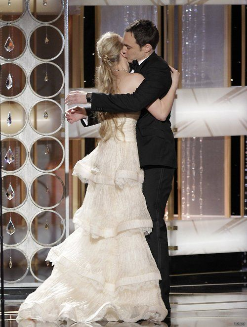 Emmy Awards show.  Kaley was the presenter who called Jim's name as the winner.  Sweet.