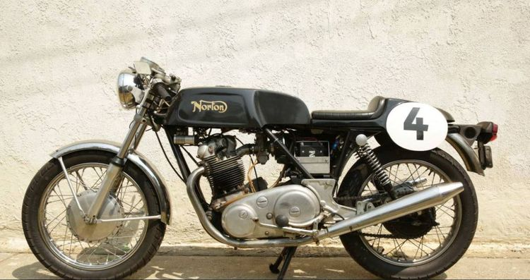 """Any reader of this site doesn't need an explanation of why the Norton Commando is one of the legends of motorcycling history.  I like this example because it's got a """"cafe"""" tank, seat, and clipons - I think it's a beautiful twist on a legend.  What do you say?"""