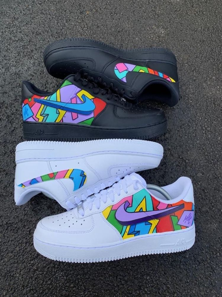 Custom Air Force 1: 80's Color Block