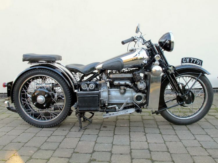 750cc, four-cylinder Brough Superior BS4s