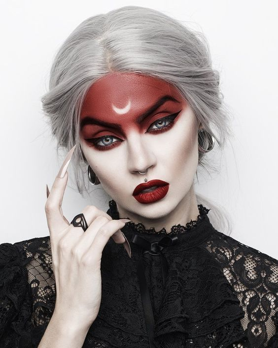 40+ Most Jaw-Dropping Pretty Halloween Makeup Ideas | momooze