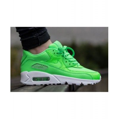 watch 2f654 fa725 Nike Air Max 90 Leather White Lucid Green Mens Trainers Sell Cheaply