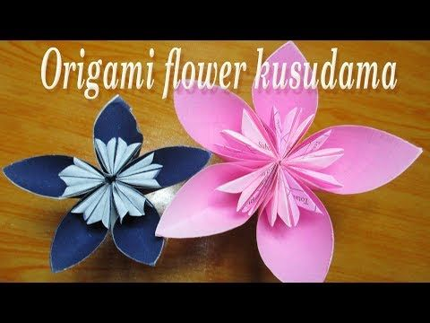How to make a kusudama paper flower easy origami kusudam how to make a kusudama paper flower easy origami kusudama for beginners making diy paper crafts youtube mightylinksfo