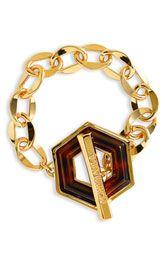 Tory Burch Hexagon Toggle Bracelet