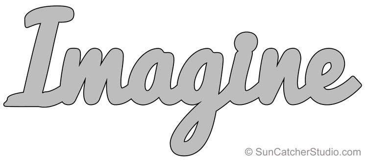 Imagine - Pattern, FREE Template, Stencil, Printable Word