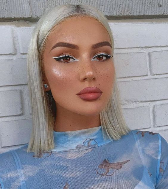 Gray Wig of Human Hair with Baby Hair Brazilian Ombre Lace Front Wig Short Bob