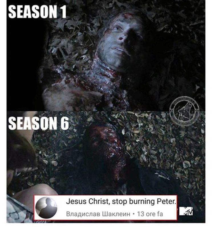 SERIOUSLY! I happen to like Peter. Quit burning him, dammit.