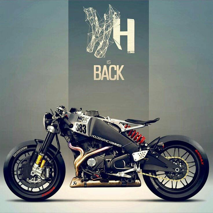 Buell XB12 R Cafe Racer by Holographic Hammer.