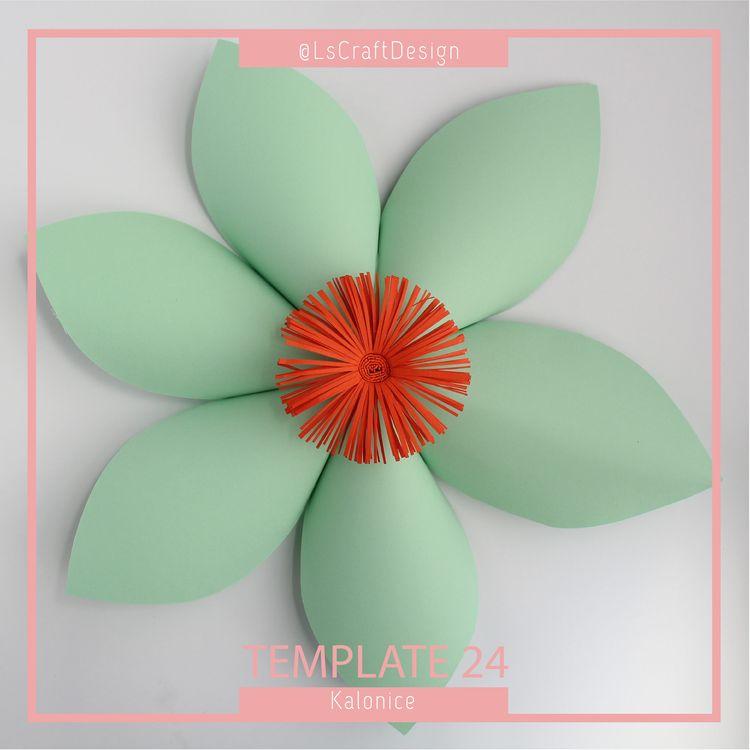 PDF Paper Flower Paper Flower Template Giant Paper Flowe