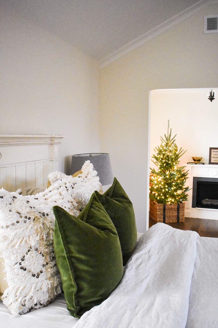 Velvet holiday pillows