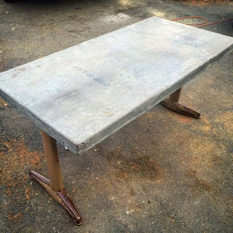 Excited To Share The Latest Addition My Etsy Zinc Top Table