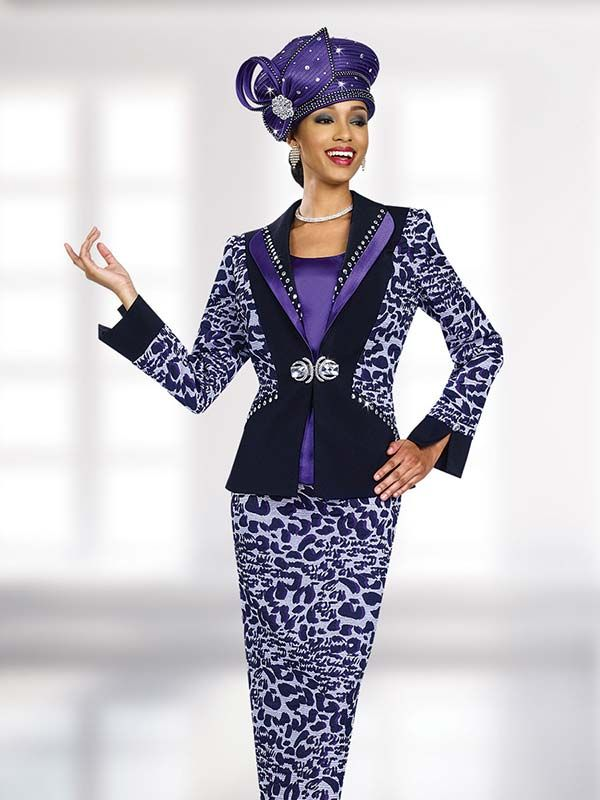 6b37b54052 Ben Marc 47972 Ladies Embellished Animal Print Suit
