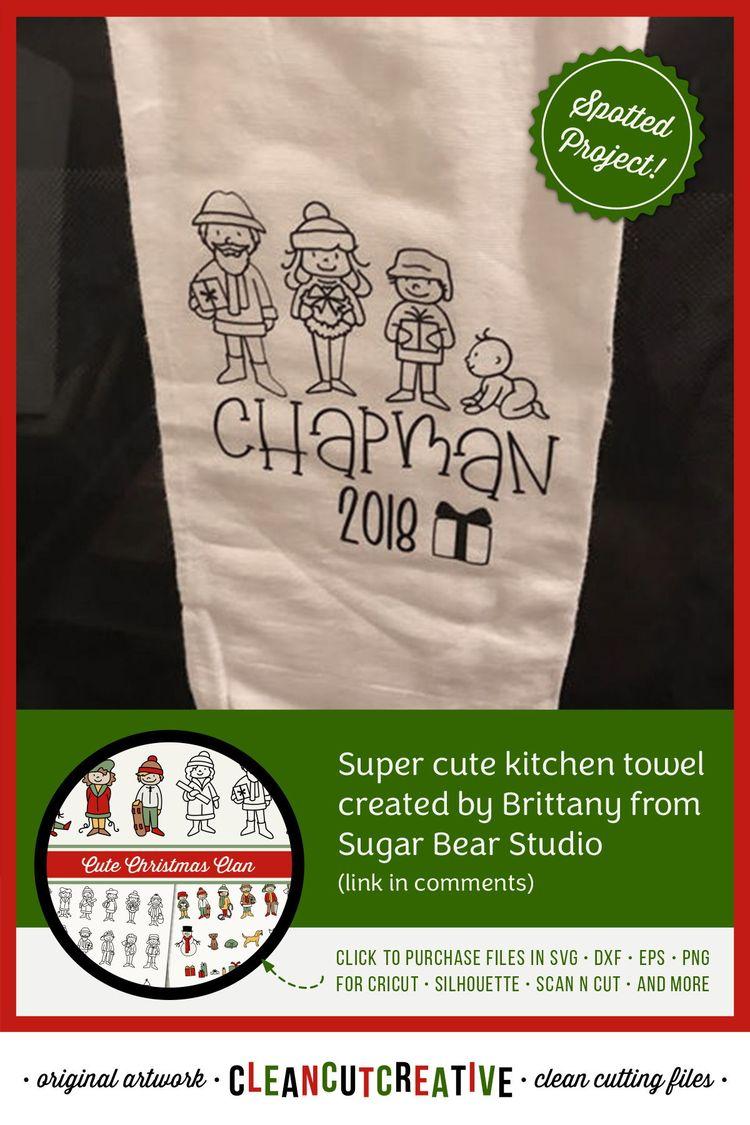 2c4687b732864 Cute Christmas Clan - Christmas Family Characters cutfiles
