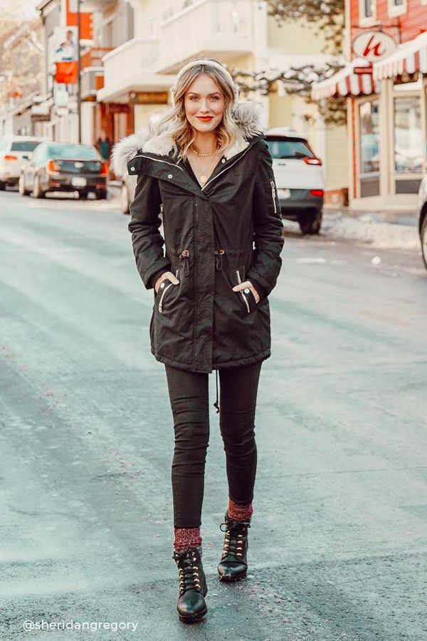 c6f3acadc2b Sheridan Gregory Winter Outfit on Instagram. Total Black casual look for  cold days.