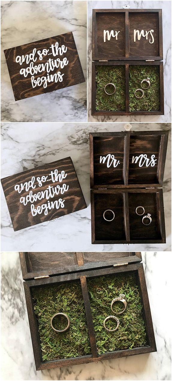 Personalized Wedding Ring Box Ring Bearer Box Engageme