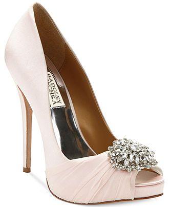 "Badgley Mischka Pettal Evening Pumps - Evening & Bridal - Shoes - Macy's  $255  4 3/4"" heel, .5"" platform"