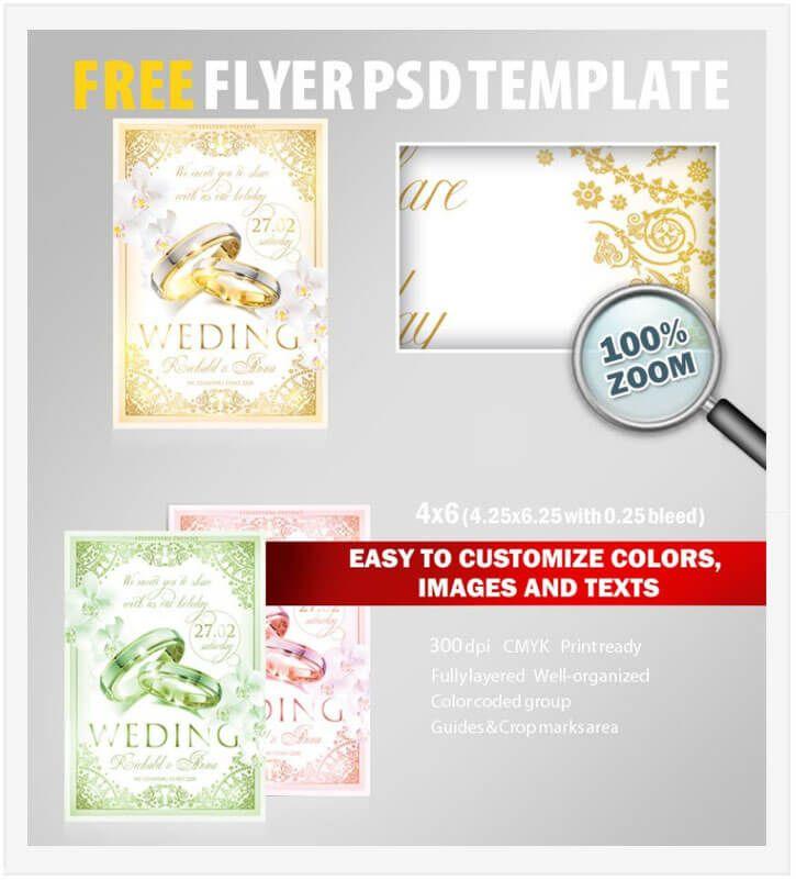 20 free wedding flyer templates in psd vector ai