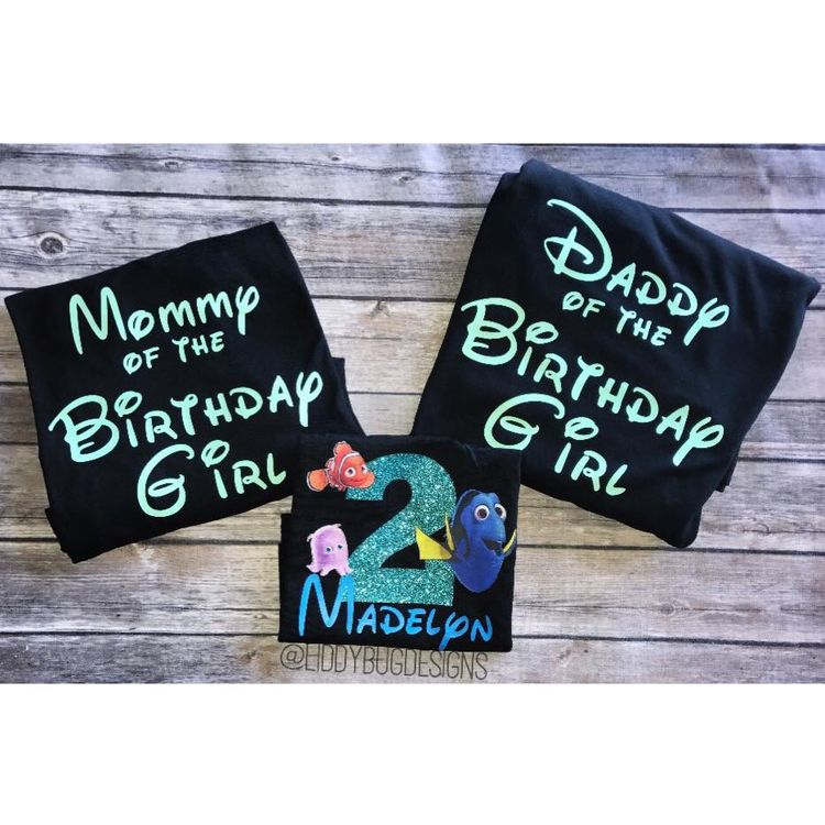 Family Shirts Matching Etsy Gift Finding Dory Birthday Party Nemo Personalized Shirt Onesie 2nd First Custom