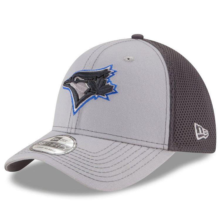 lowest price 5adb4 1b99e Toronto Blue Jays New Era Grayed Out Neo 2 39THIRTY Flex Hat - Gray