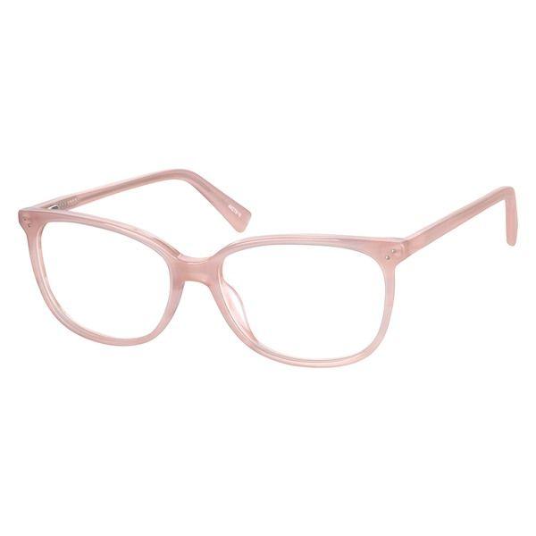 210d2e11173 Zenni Womens Square Prescription Eyeglasses Pink Tortoiseshell Plastic  4427819