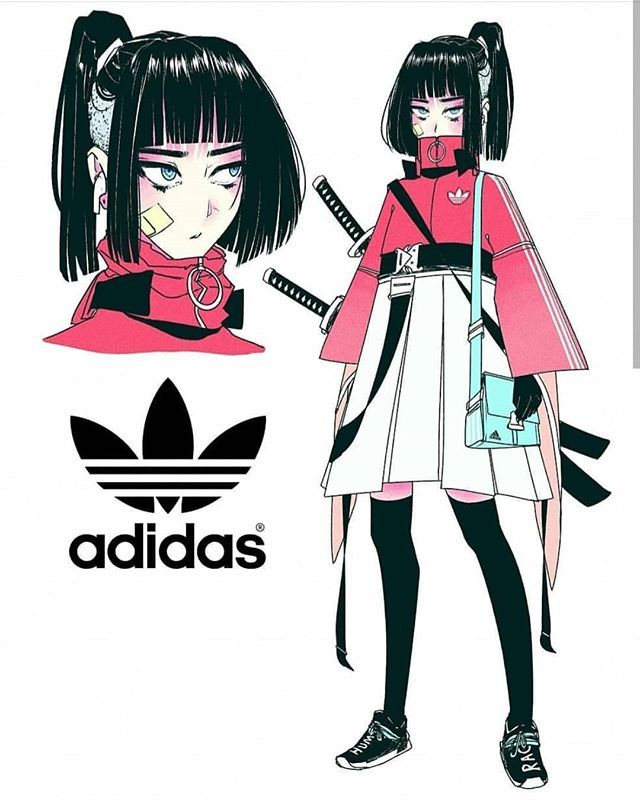 """Lyris.help no Instagram: """"Adidas, Nike ou Fila?  ❤️ Projetos incríveis do Chara de @ vinne.art ~ 😍 ----------------- Se você gostaria de ser destaque, use a hashtag:… """""""