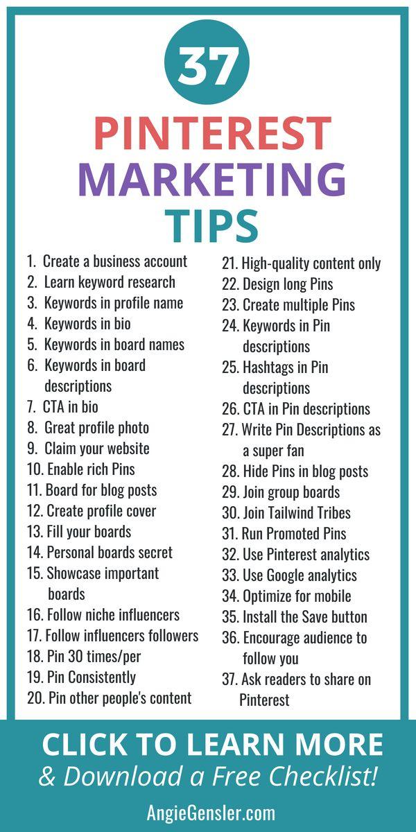 37 Brilliant Pinterest Marketing Tips to Increase Traffic