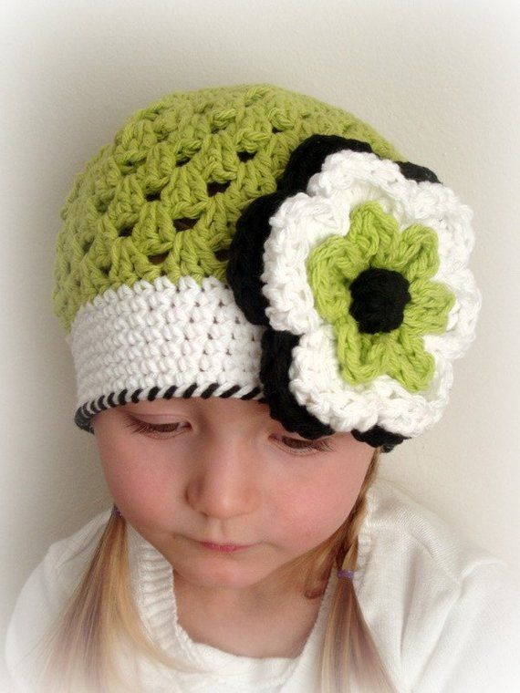 850ae6cad03 Apple green hat for girl (Any sizes)