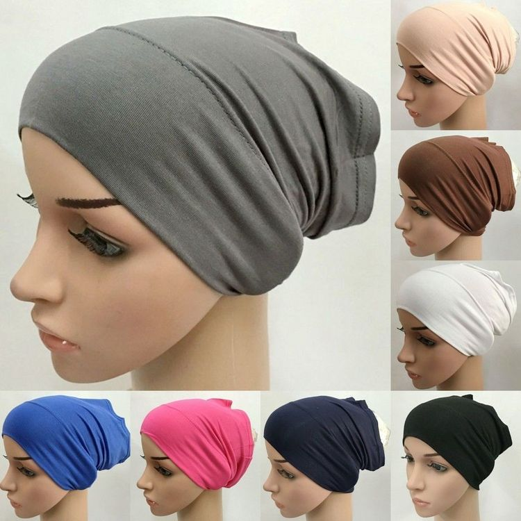 $3 47 - Arab Muslim Cotton Inner Hijab Tube Caps Turkish He
