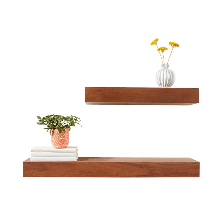 Walnut Floating Shelves Extraordinary Container Store Floating Shelves