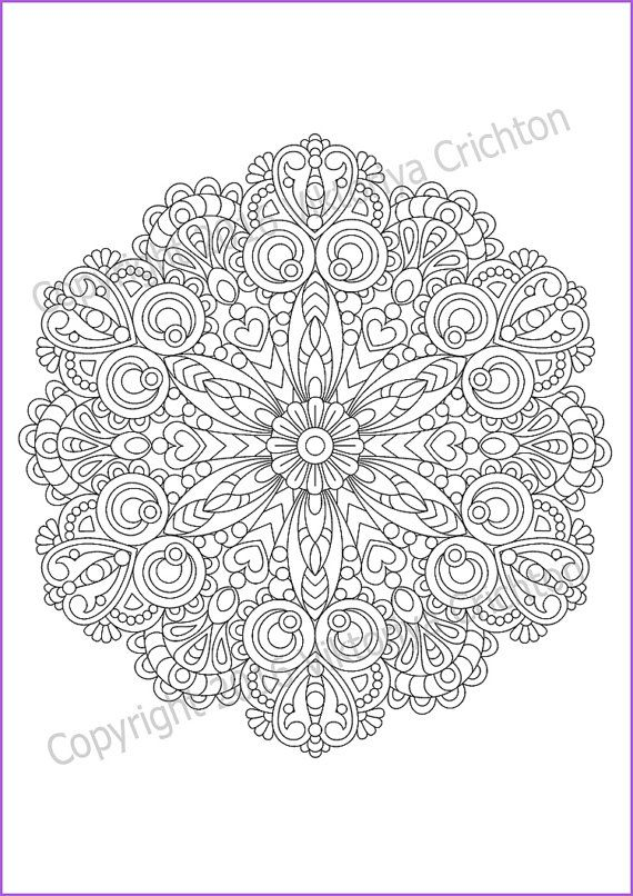 Mandala Coloring Page For Adult Pdf Doodle Zentangle A