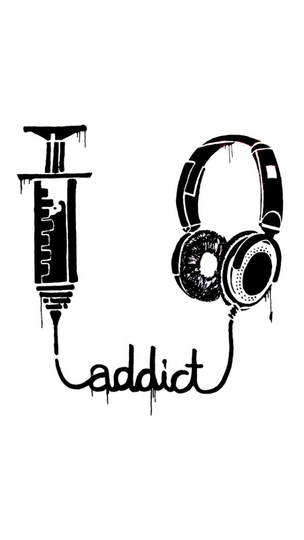 Music Addict - iPhone 5S, 5C, 5, 4s, 4, 3Gs, 3G, 640x960, 640x1136 Free HD Wallpapers