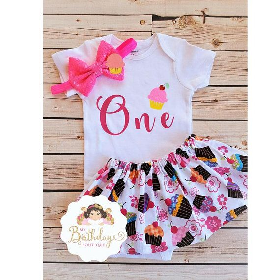 fe2f43e68 Baby Girl first birthday outfit cupcake,1st Birthday Girl Outfit  Cupcake,Cupcake birthday outfit,Cupcake birthday set,Cupcake birthday party