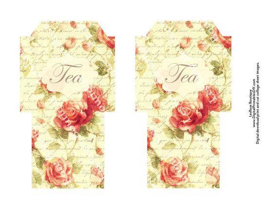 Free Printable Tea Bag Envelope Template