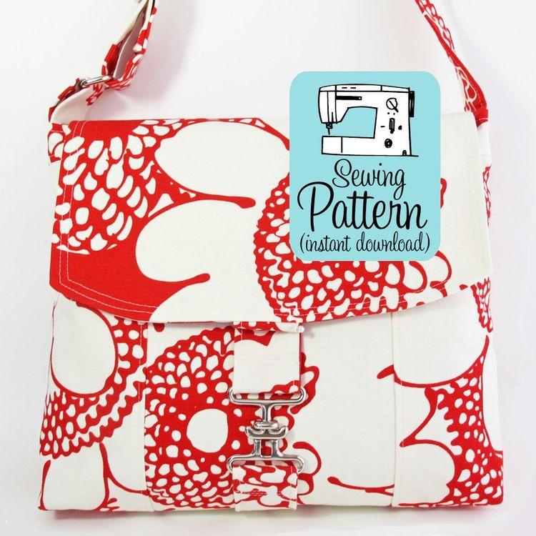 4118062e2b Messenger Bag PDF Sewing Pattern