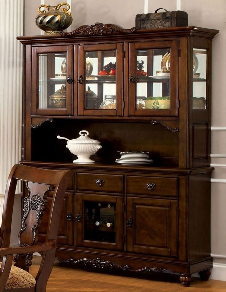 Dark Oak Finish, Antique Details And Dark Hardware Will Make This China  Cabinet A Number One Piece In ...