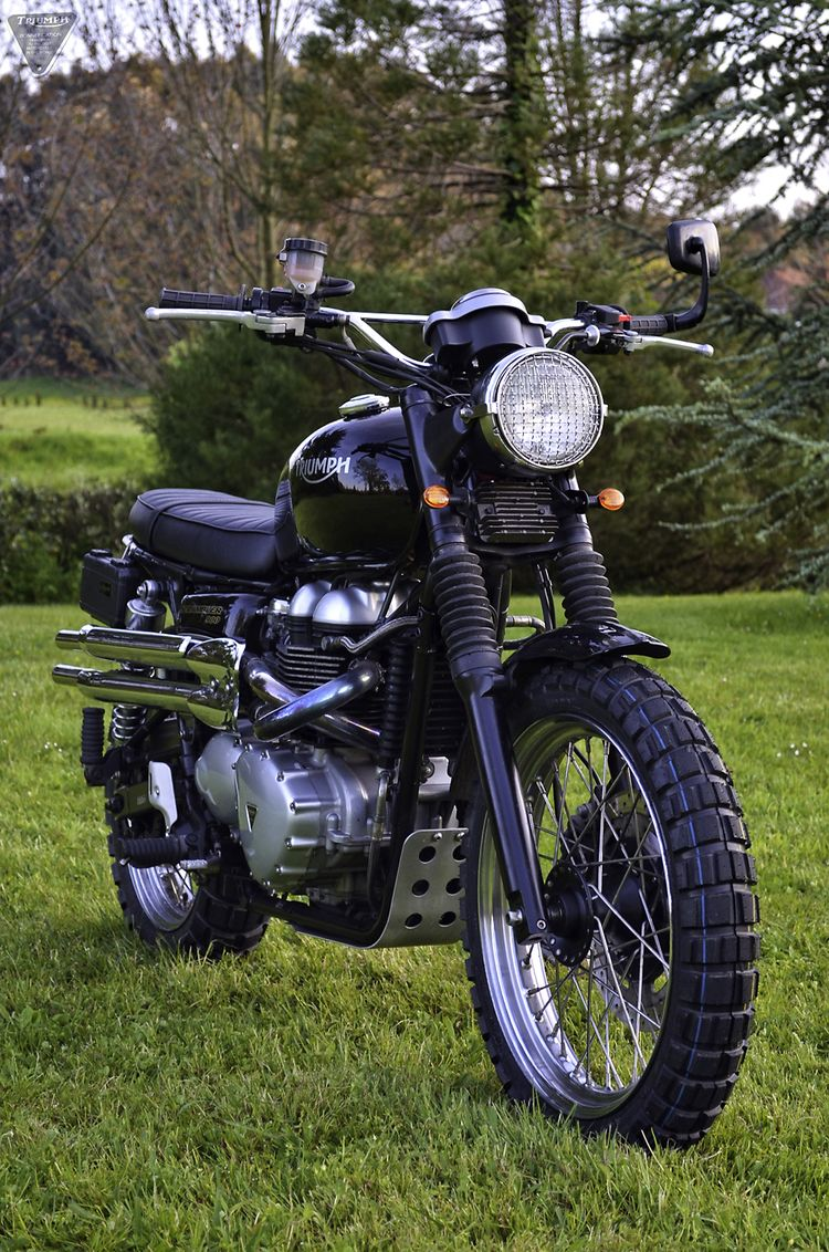 Six Day Scrambler: fender eliminated, retro turn signals, slip on muffler. Crisp. (if I was into Scramblers, I'd be WAY into this one!)
