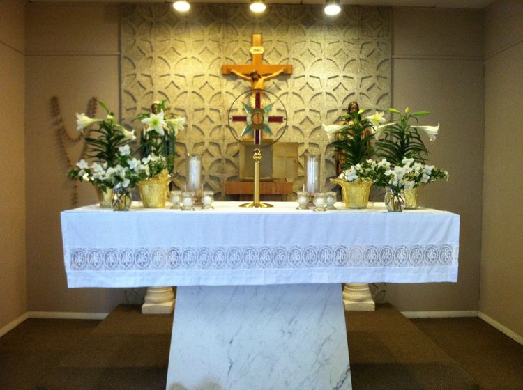 Easter Altar Perpetual Adoration Chapel St James Catholi