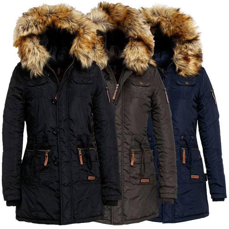 Navahoo Tamara Damen Jacke Herbst Winter Stepp Jacke Damenjacke Warm Teddyfell