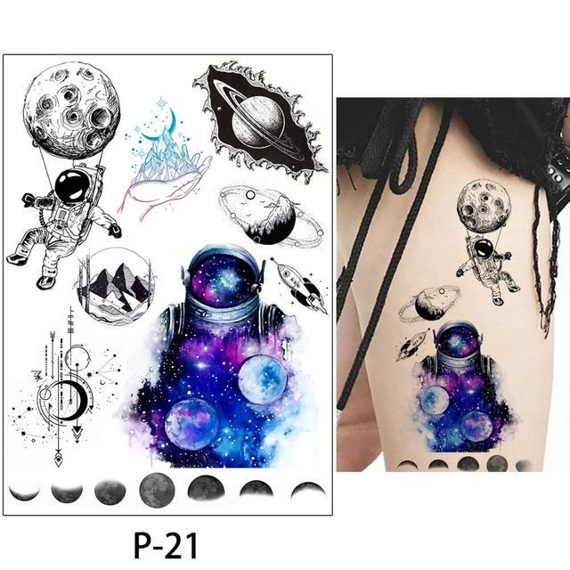 89bb824d2 Temporary Tattoo Rose Animal Fish Flower Sets of 4 Pieces Tons Of  Professional Style Body Art