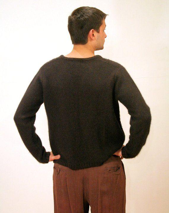 90s Lambswool Sweater L Eddie Bauer Mens Brown Vintage V