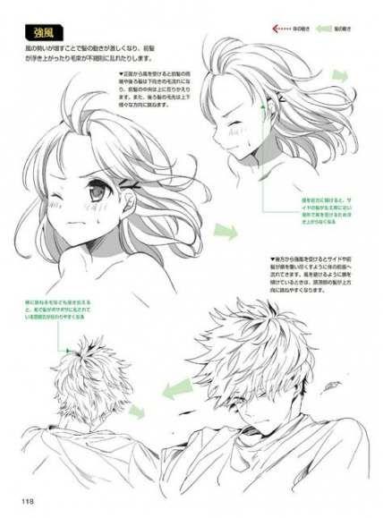 32+ idéias cabelo tutorial Anime Sketch