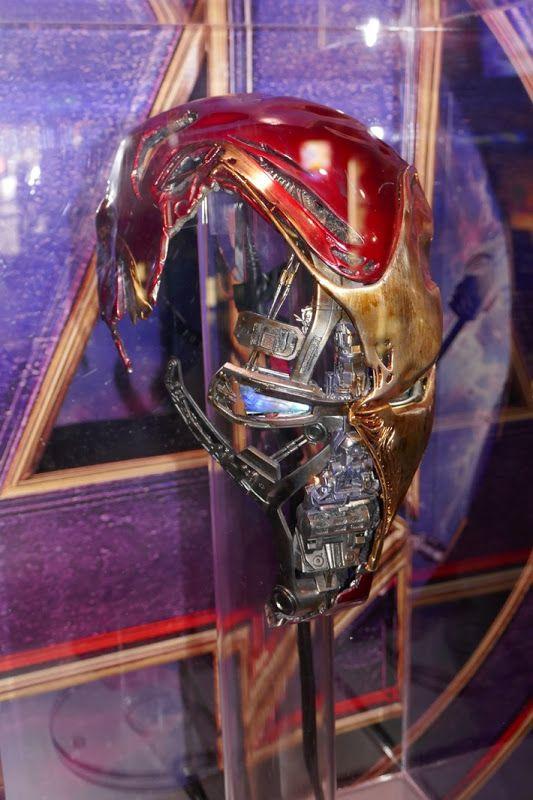 Damaged Iron Man Mark 50 helmet Avengers: Endgame