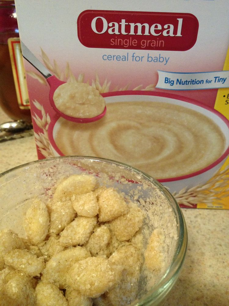 Baby Food Pancakes Made With Baby Rice Cereal