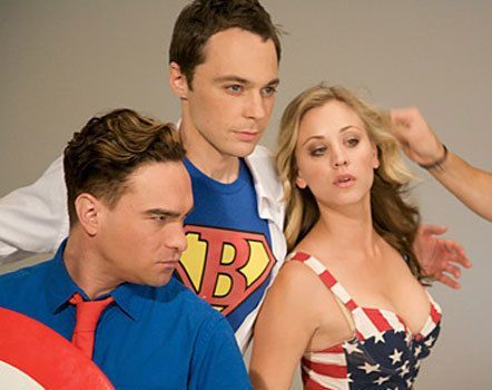 johnny galecki, jim parsons, and kaley cuoco. The Big Bang Theory.
