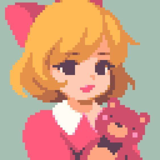Pixel Art Pixel Aesthetic Anime Pink Aesthetic P
